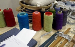 cones-of-yarn-and-workshop-equipment