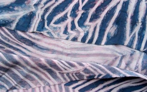 shibori dyed silk