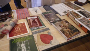 Examples of books on display